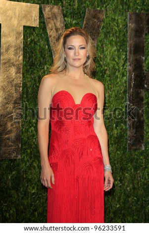WEST HOLLYWOOD, CA - FEB 26: Kate Hudson at the Vanity Fair Oscar Party at Sunset Tower on February 26, 2012 in West Hollywood, California. - stock photo