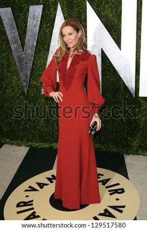 WEST HOLLYWOOD, CA - FEB 24: Leslie Mann at the Vanity Fair Oscar Party at Sunset Tower on February 24, 2013 in West Hollywood, California