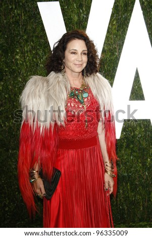 WEST HOLLYWOOD, CA - FEB 26: Lisa Eisner at the Vanity Fair Oscar Party at Sunset Tower on February 26, 2012 in West Hollywood, California.