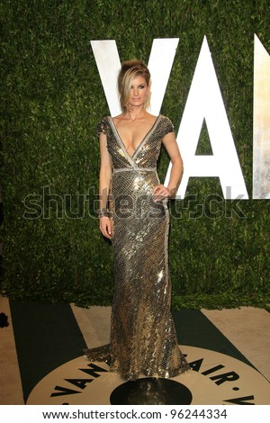 WEST HOLLYWOOD, CA - FEB 26: Marisa Miller at the Vanity Fair Oscar Party at Sunset Tower on February 26, 2012 in West Hollywood, California.