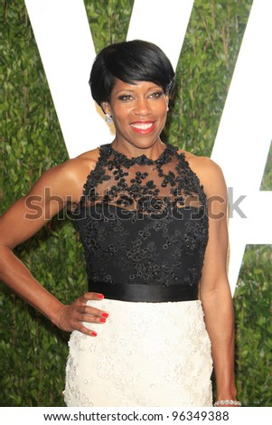 WEST HOLLYWOOD, CA - FEB 26: Regina King at the Vanity Fair Oscar Party at Sunset Tower on February 26, 2012 in West Hollywood, California.