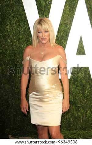 WEST HOLLYWOOD, CA - FEB 26: Suzanne Somers at the Vanity Fair Oscar Party at Sunset Tower on February 26, 2012 in West Hollywood, California. - stock photo