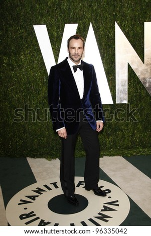 WEST HOLLYWOOD, CA - FEB 26: Tom Ford at the Vanity Fair Oscar Party at Sunset Tower on February 26, 2012 in West Hollywood, California. - stock photo