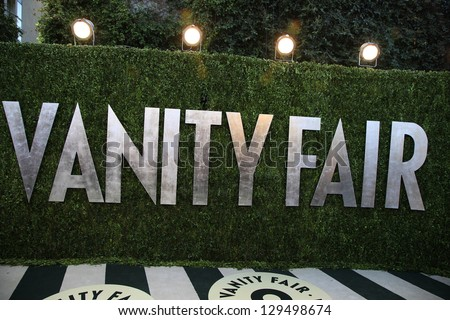 WEST HOLLYWOOD, CA - FEB 24: Vanity Fair at the Vanity Fair Oscar Party at Sunset Tower on February 24, 2013 in West Hollywood, California - stock photo