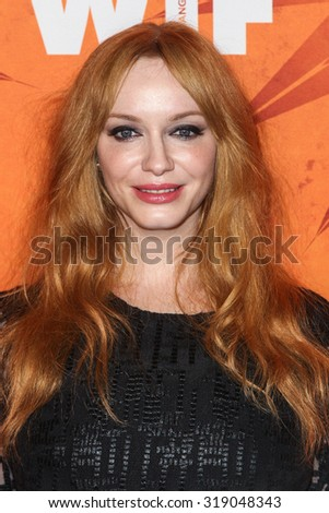 WEST HOLLYWOOD, CA/USA -  SEPTEMBER  18  2015: Christina Hendricks attends the Variety and Women in Film Annual Pre-Emmy Celebration.
