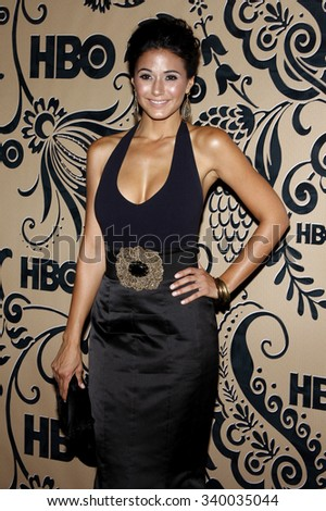 WEST HOLLYWOOD, CALIFORNIA - September 20, 2009. Emmanuelle Chriqui at the HBO POST EMMY Party held at the Pacific Design Center, West Hollywood, Los Angeles.   - stock photo