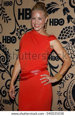WEST HOLLYWOOD, CALIFORNIA - September 20, 2009. Maria Bello at the HBO POST EMMY Party held at the Pacific Design Center, West Hollywood, Los Angeles.  - stock photo