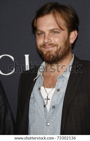 WEST HOLLYWOOD - FEB 12:  Caleb Followill arriving at the Gucci and RocNation Pre-GRAMMY Brunch held in West Hollywood, California on February 12, 2011.