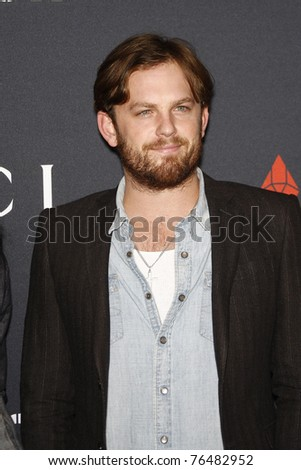 WEST HOLLYWOOD - FEB 13:  Caleb Followill at the Gucci and RocNation Pre-GRAMMY Brunch in West Hollywood, California on February 13, 2011.