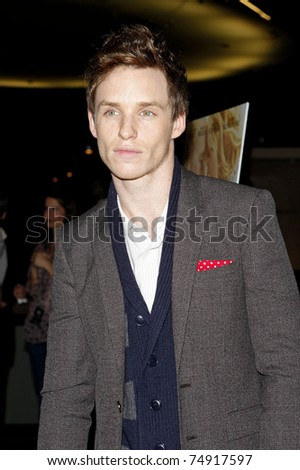 WEST HOLLYWOOD - FEB 18: Eddie Redmayne arriving at the premiere of 'The Yellow Handkerchief' held at the Pacific Design Center in West Hollywood, California on February 18,  2010.