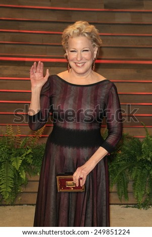 WEST HOLLYWOOD - MAR 2:: Bette Midler at the 2014 Vanity Fair Oscar Party on March 2, 2014 in West Hollywood, California - stock photo