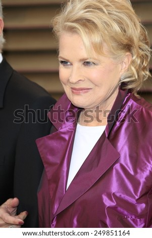 WEST HOLLYWOOD - MAR 2:: Candice Bergen at the 2014 Vanity Fair Oscar Party on March 2, 2014 in West Hollywood, California - stock photo