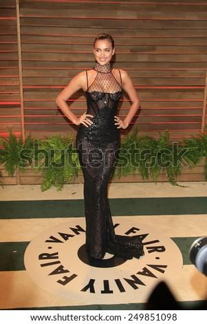 WEST HOLLYWOOD - MAR 2:: Irina Shayk at the 2014 Vanity Fair Oscar Party on March 2, 2014 in West Hollywood, California - stock photo