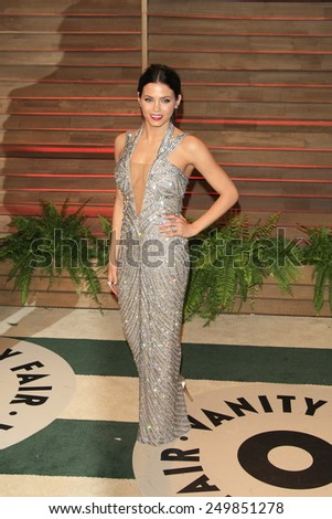 WEST HOLLYWOOD - MAR 2:: Jenna Dewan-Tatum at the 2014 Vanity Fair Oscar Party on March 2, 2014 in West Hollywood, California - stock photo
