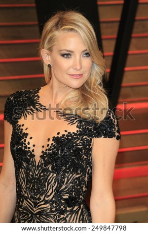 WEST HOLLYWOOD - MAR 2:: Kate Hudson at the 2014 Vanity Fair Oscar Party on March 2, 2014 in West Hollywood, California - stock photo