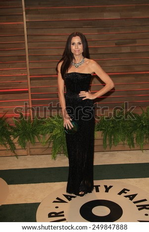 WEST HOLLYWOOD - MAR 2:: Minnie Driver at the 2014 Vanity Fair Oscar Party on March 2, 2014 in West Hollywood, California - stock photo