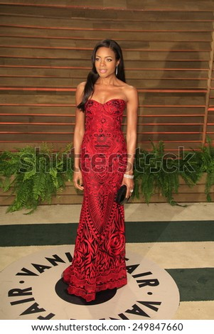 WEST HOLLYWOOD - MAR 2:: Naomie Harris at the 2014 Vanity Fair Oscar Party on March 2, 2014 in West Hollywood, California - stock photo