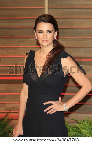 WEST HOLLYWOOD - MAR 2:: Penelope Cruz at the 2014 Vanity Fair Oscar Party on March 2, 2014 in West Hollywood, California - stock photo