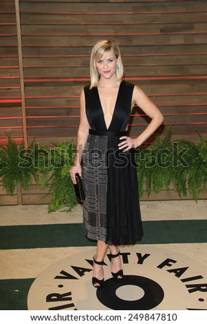 WEST HOLLYWOOD - MAR 2:: Reese Witherspoon at the 2014 Vanity Fair Oscar Party on March 2, 2014 in West Hollywood, California - stock photo