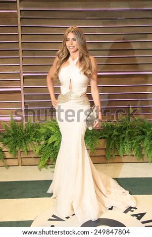 WEST HOLLYWOOD - MAR 2:: Sofia Vergara at the 2014 Vanity Fair Oscar Party on March 2, 2014 in West Hollywood, California - stock photo