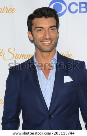 WEST HOLLYWOOD - MAY 18: Justin Baldoni at the CBS Television Studios 3rd Annual Summer Soiree Party held at The London Hotel on May 18, 2015 in West Hollywood, California - stock photo