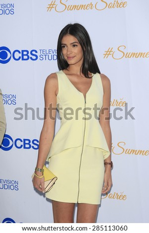 WEST HOLLYWOOD - MAY 18: Laysla De Oliveira at the CBS Television Studios 3rd Annual Summer Soiree Party held at The London Hotel on May 18, 2015 in West Hollywood, California - stock photo