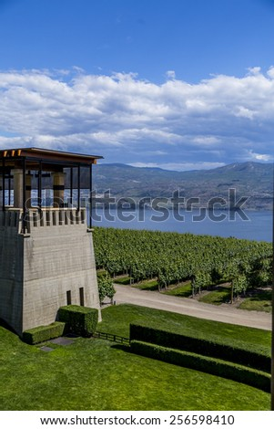 WEST KELOWNA, CANADA - JUNE 22, 2014 : Mission Hill Winery in West Kelowna, BC, Canada on a sunny summer day - stock photo