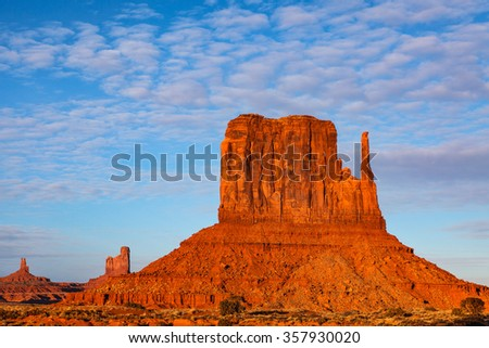 West Mitten Butte Monument Valley Arizona Navajo Tribal Park