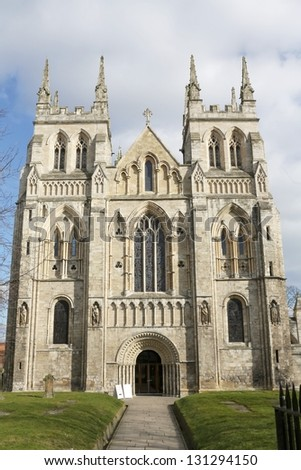 West of door of Selby Abbey, Yorkshire, England.
