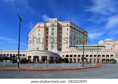 WEST PALM BEACH - JUNE: On June 7, 2015, complaints continue at the VA Medical Center in West Palm Beach, Florida over long waits, poor service, inattentive nurses and timely assessments of health. - stock photo