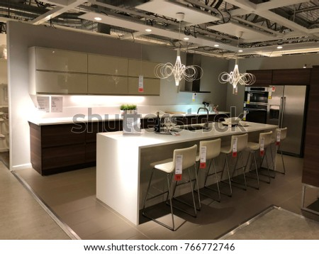 WEST SACRAMENTO, CA, USA   NOV 28, 2017: Interior Of Kitchen Display