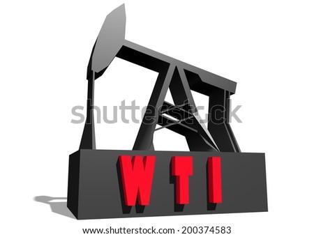 West Texas Intermediate Crude Oil Benchmark Stock Illustration