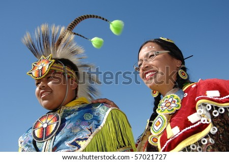 WEST VANCOUVER, BC, CANADA - JULY 10: Portrait of Native Indians taken during annual Squamish Nation Pow Wow on July 10, 2010 in West Vancouver, BC, Canada - stock photo