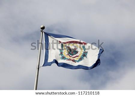 West Virginia flag - stock photo
