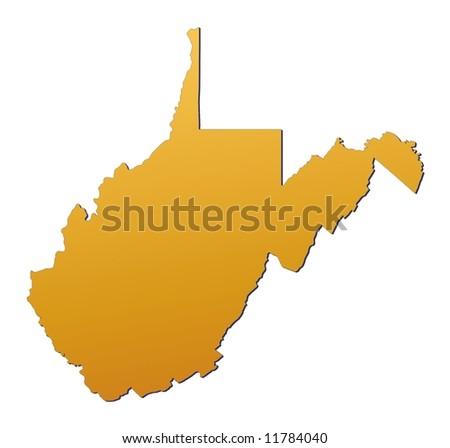 West Virginia Map Stock Images RoyaltyFree Images Vectors - West virginia us map