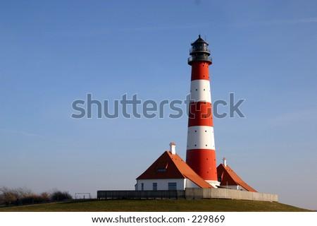 Westerhever lightouse - stock photo
