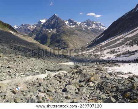 Western Alps, Switzerland, Valais, mountains near the frontier to Italy - stock photo