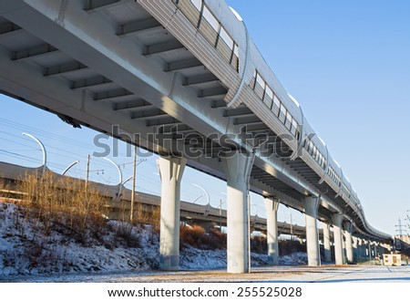 Western High-Speed Diameter is a toll motorway in Saint Petersburg, Russia - stock photo