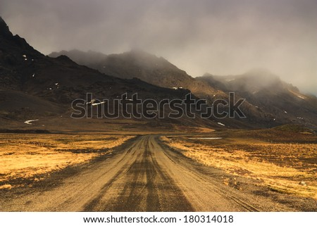 Western Iceland / Country Road  - stock photo