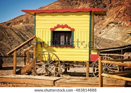 Western puppet show stand in Calico, California