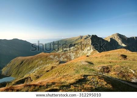 Western Tatras on the Polish-Slovak border, Carpathian Mountains. - stock photo