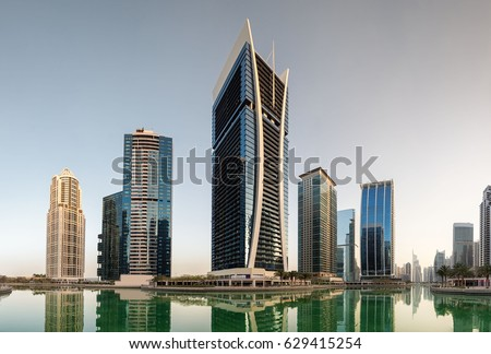 Western View Of The Cluster V Buildings Jumeirah Lake Towers Goldcrest Views Tower In