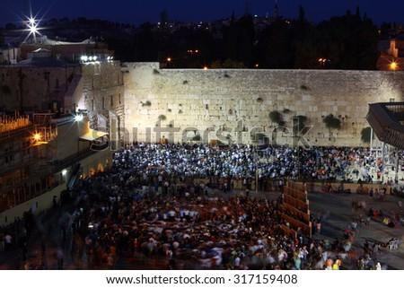 Western Wall in Jerusalem, Israel  - stock photo