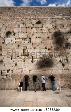 Western wall. Jerusalem. Israel. - stock photo