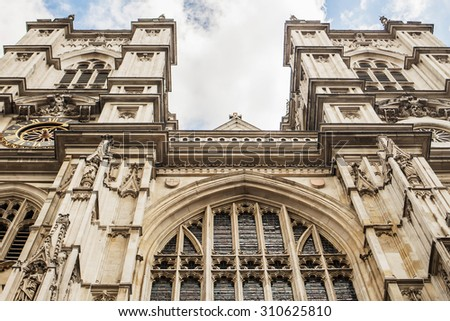 Westminster abbey background - stock photo