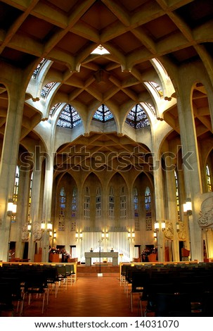 Westminster Abbey Benedictine Monastery, Mission Vancouver, BC, Canada - stock photo