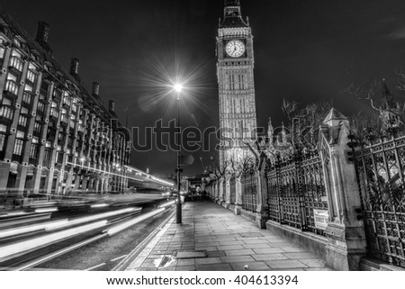 Westminster by night.