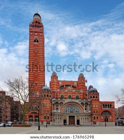 Westminster cathedral - London, UK - stock photo