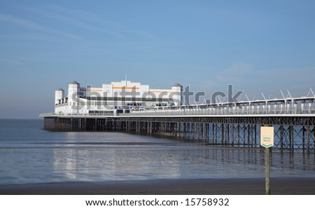 Weston pier - Now destroyed by fire