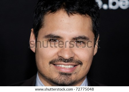 WESTWOOD, CA. - MARCH 8: Michael Pena arrives at Columbia Pictures premiere of Battle: Los Angeles on March 8th 2011 at the Regency Village Theater in Westwood, Ca.